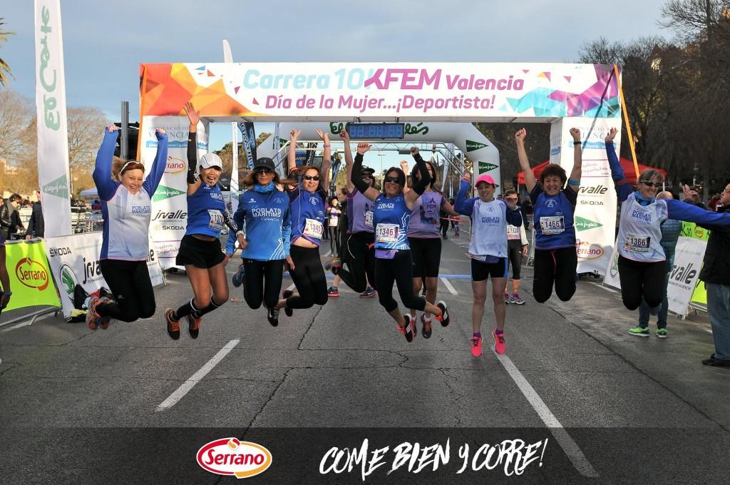 Serrano con el Deporte. 10K Fem Valencia Día de la Mujer Deportista
