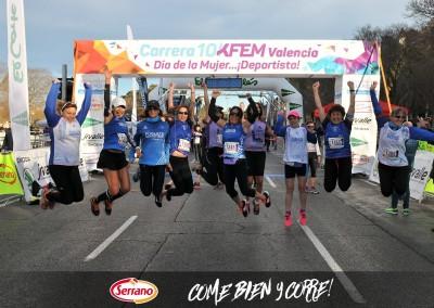 Serrano con el Deporte 2016. 10KFem Valencia Día de la Mujer Deportista