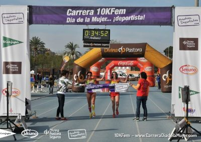 Llegadas a meta – Carrera 10KFem – Día de la Mujer…¡deportistas