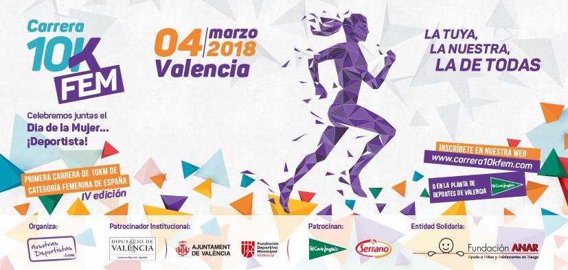 10KFem Valencia Inscripciones 2018